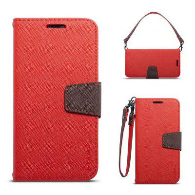 MUXMA Cover Case for iPhone X Retro Twill Leather