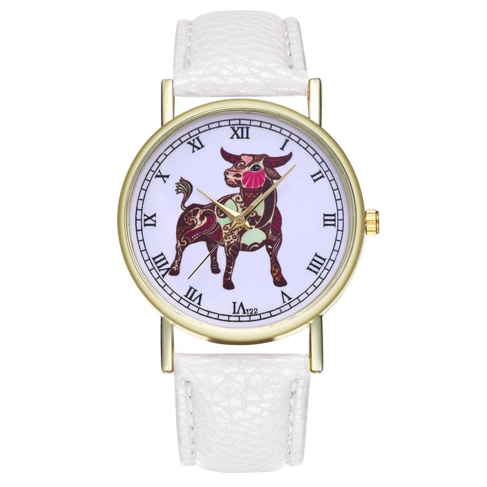 ZhouLianFa T22 Fashion Color Cattle Belt Quartz Watch