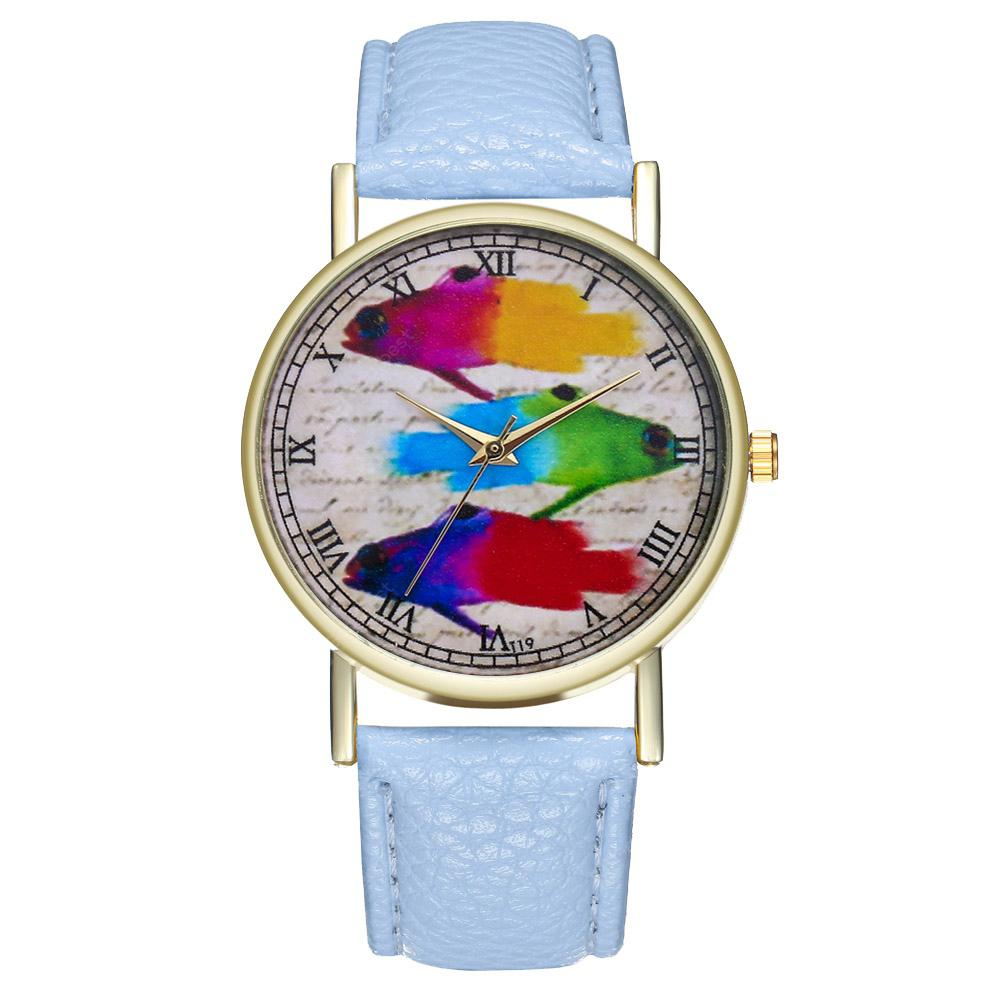 ZhouLianFa T19 Fashion Colorful Fish Pattern Belt Quartz Watch