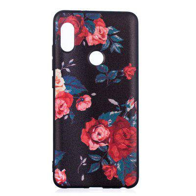 TPU Relief Case for Xiaomi Redmi Note 5 Pro Red Flowers Pattern