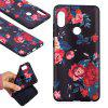 TPU Relief Case for Xiaomi Redmi Note 5 Pro Red Flowers Pattern - RED