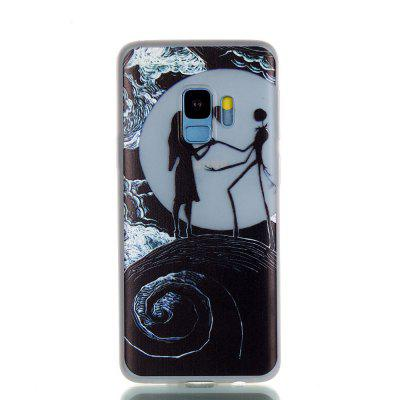 Luminous Soft Case for Samsung Galaxy S9 Moon Lovers Pattern