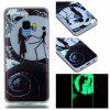 Luminous Soft Case for Samsung Galaxy S9 Moon Lovers Pattern - BLACK