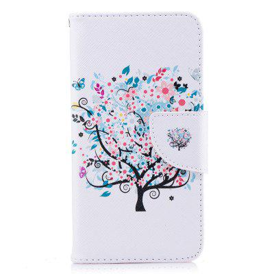 Wallet Case for Xiaomi Redmi 4X White Tree Pattern Flip Cover