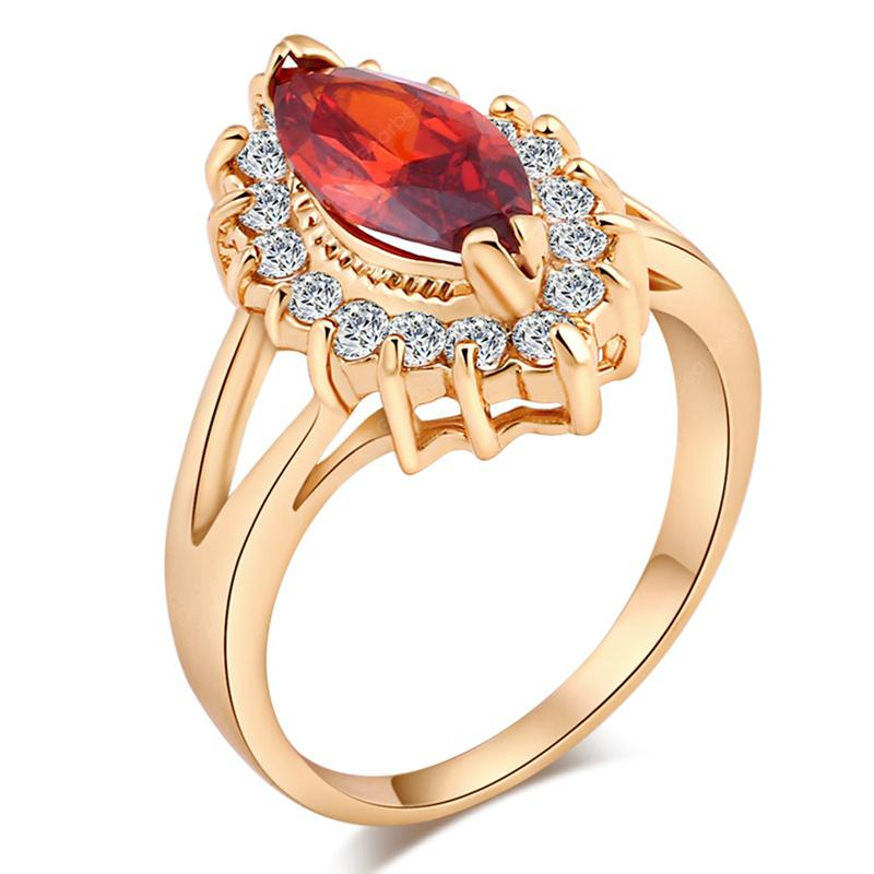 Fashion Micro-inlaid with Fine Rugby Zircon Ring J1676