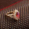 Fashion Micro-inlaid with Fine Rugby Zircon Ring J1676 - GOLD