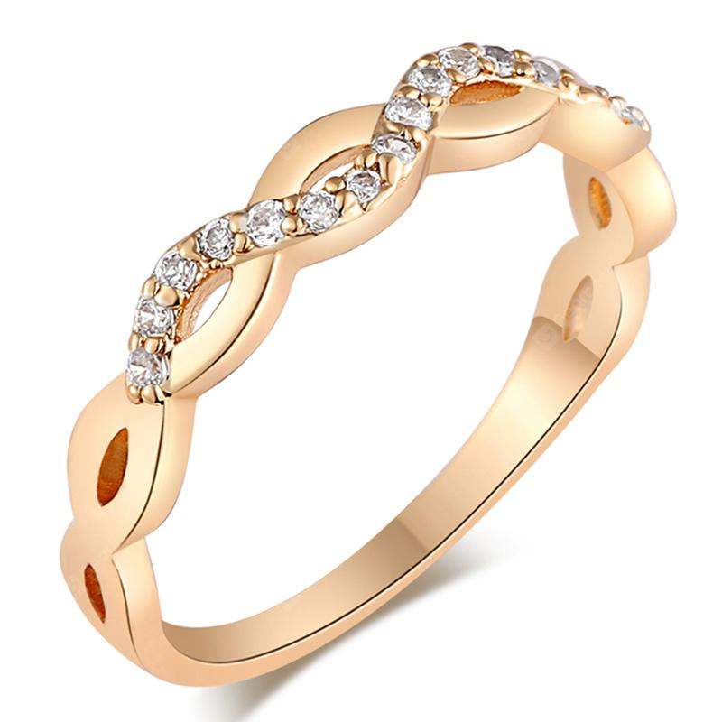 Fashionable and Simple  Exquisite Zircon Ring J1700