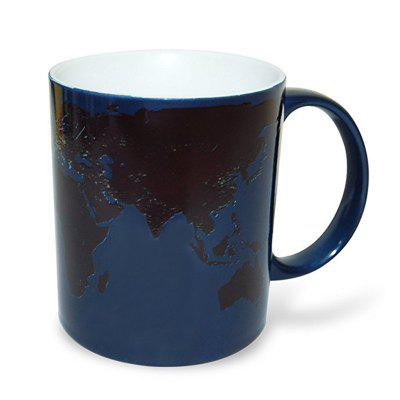 320mL Color Changing Magic Cup with World Map Pattern