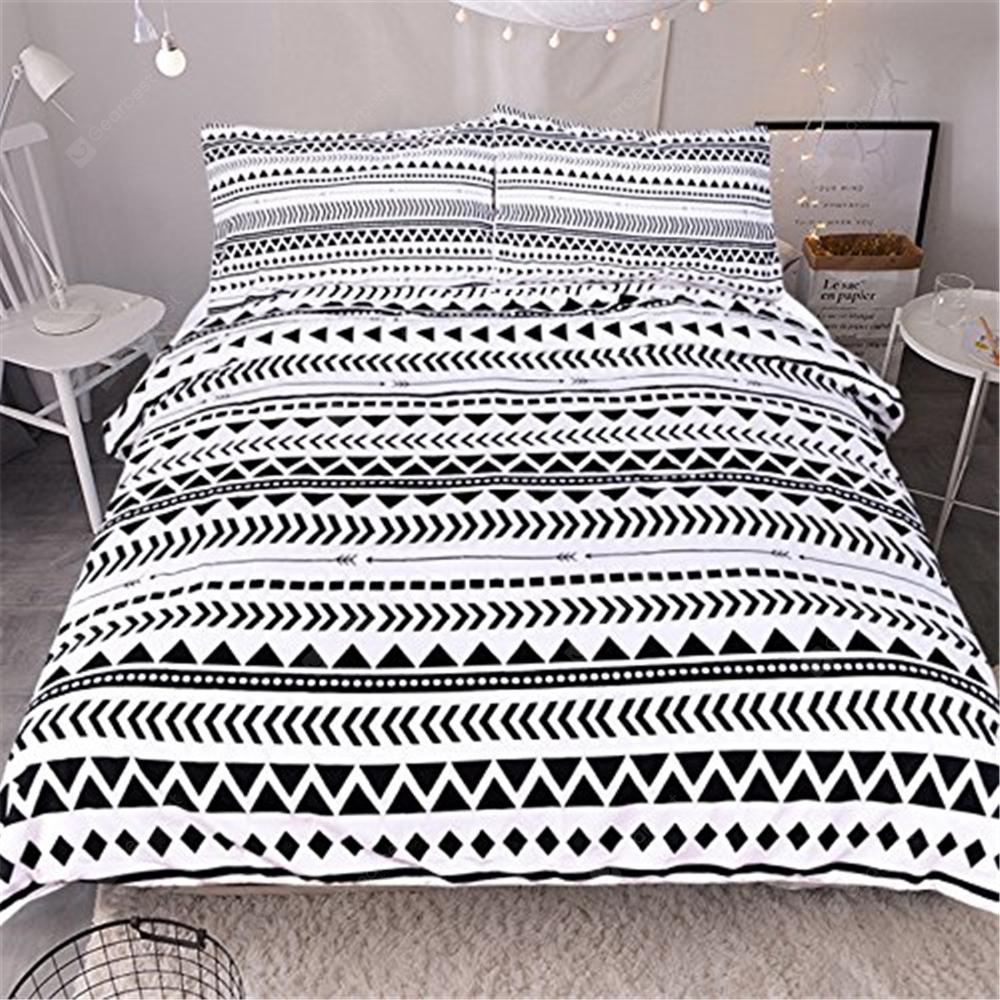 f3e164c34b Striped Bedding 3pcs Duvet Cover Set Digital Print - $51.62 Free ...