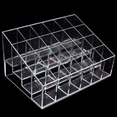 24 Transparent Display Shelf Cosmetics Storage Rack