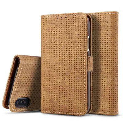 Flip Leather Fundas Retro Mesh Wallet Cover Stand for iphone X Case 10 colors pu leather stand cover for texet x pad hit 7 3g tm 7866 fundas para tablet 7 universal bags for kids m2c43d