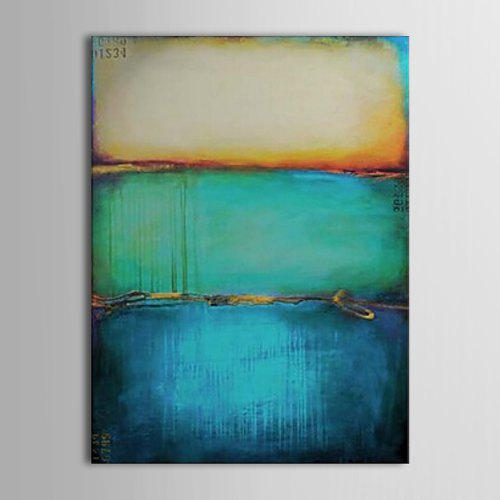 1e18ed16ff6 STYLEDECOR Hand-Painted Abstract Color Yellow-Green-Blue Canvas Oil Painting  -  37.22 Free Shipping