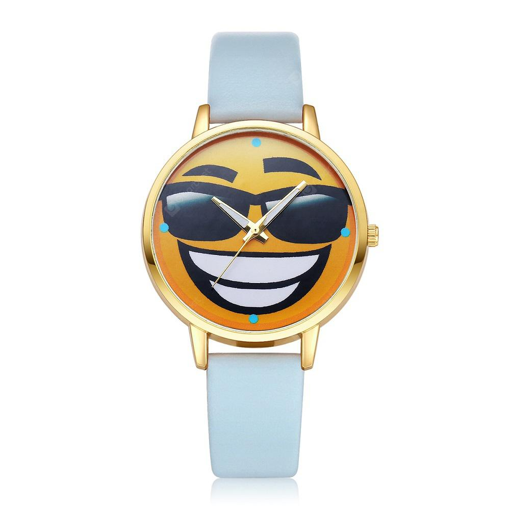 Fashion Cartoon Pattern PU Band Student Watch