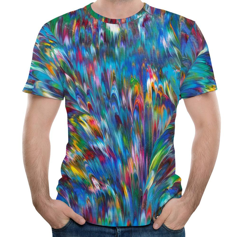 2018 Summer 3D Printed Short Sleeve T-Shirt