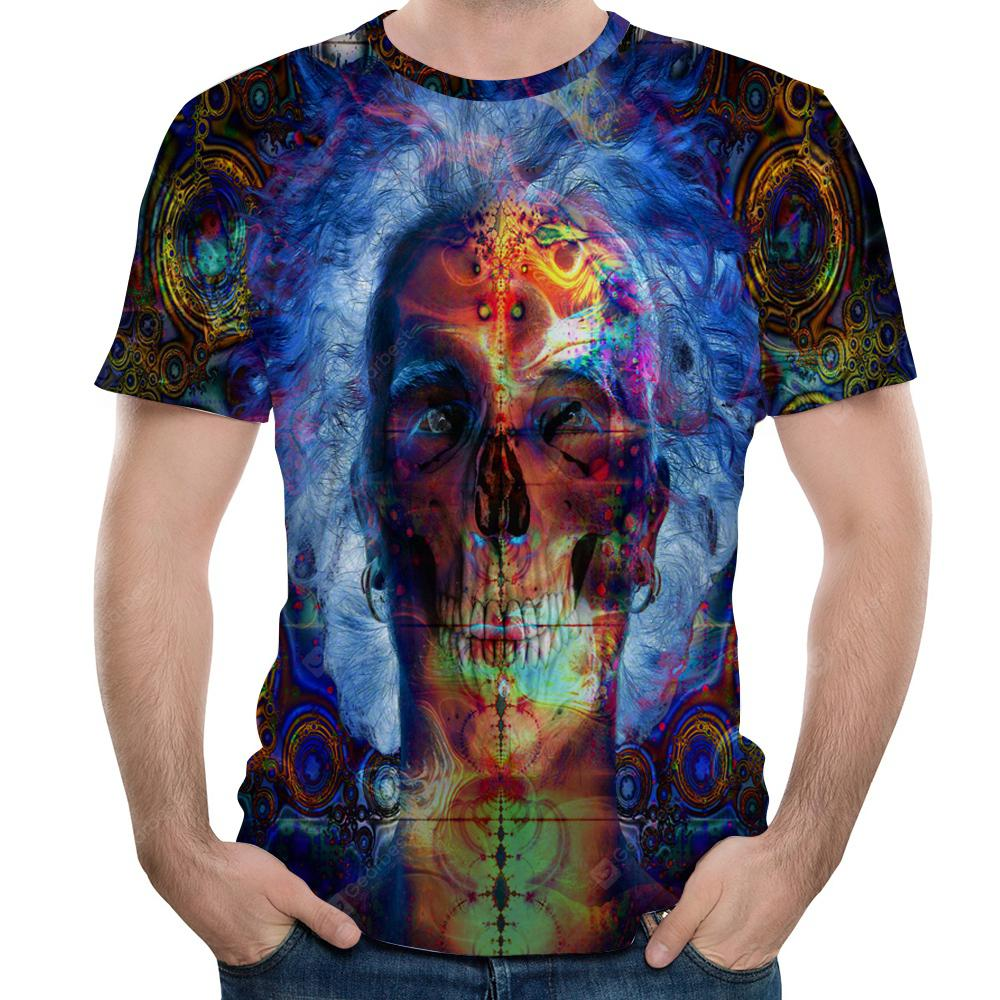 Latest Fashion 3D Printed Men's Short Sleeve T-shirt