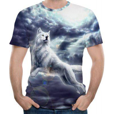 2018 New 3D Printing Fashion Men's Short Sleeve T-shirt