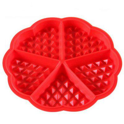 Silicone Round Waffle Mold Muffins Cake Chocolate Craft Candy Baking Tool
