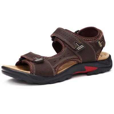 Men Casual Shoes Slippers Leather Sandals