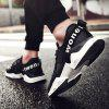 Breathable Mesh Shoes Men Running Comfort Hiking Lace Up Flats Sneakers - BLACK