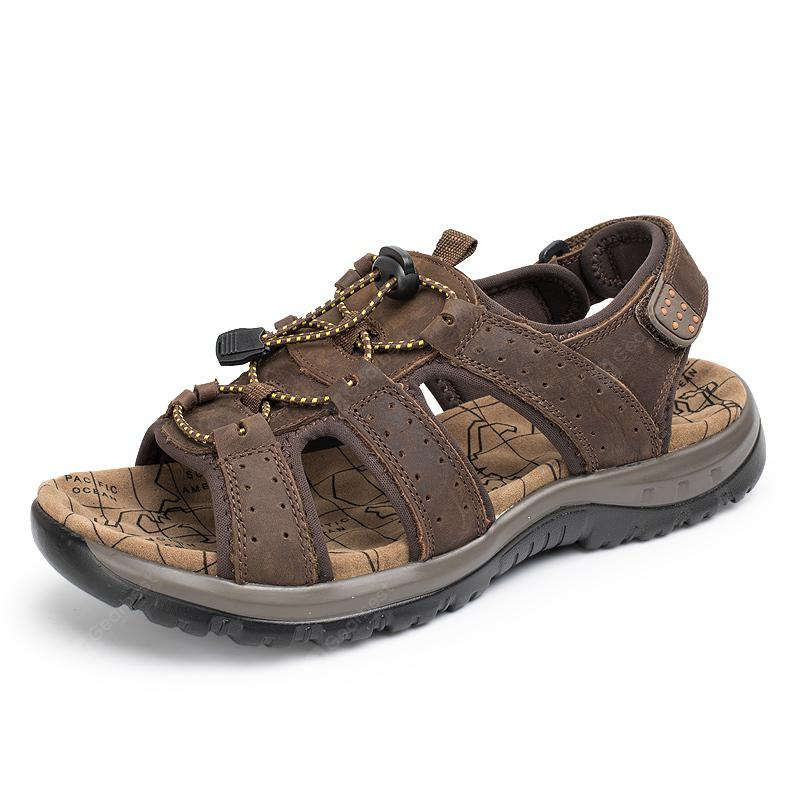 Sandals Leather Beach Casual Shoes Slippers Flip Flops Summer FlatsSneakers