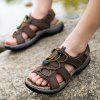 Sandals Leather Beach Casual Shoes Slippers Flip Flops Summer Flats Sneakers - DEEP BROWN
