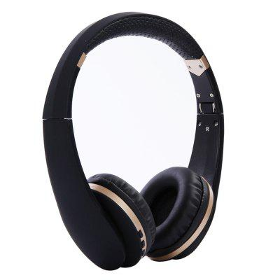Bluetooth Headphones Over Ear Hi-Fi Stereo Wireless Headset Foldable Soft Memory - White/Gray/Black