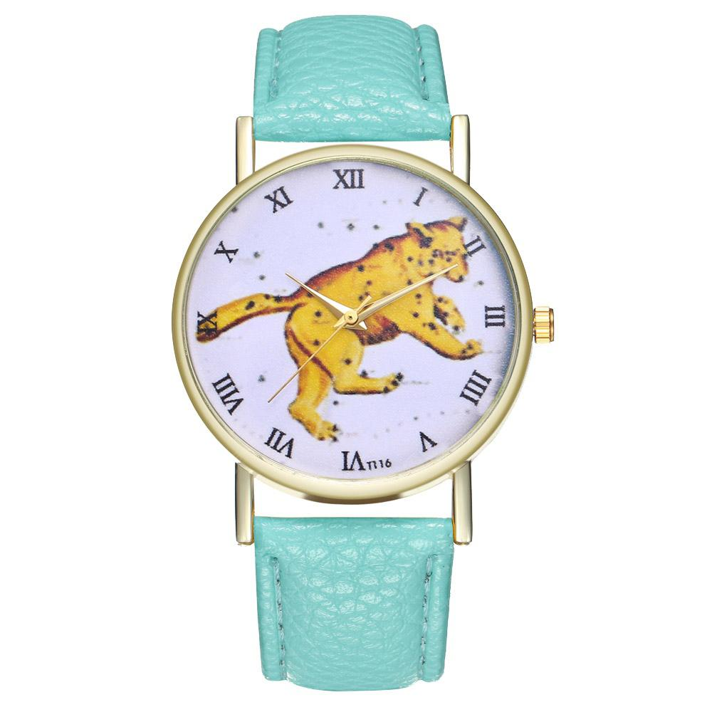 ZhouLianFa T116 Fashion Leopard Pattern Litchi Quartz Watch
