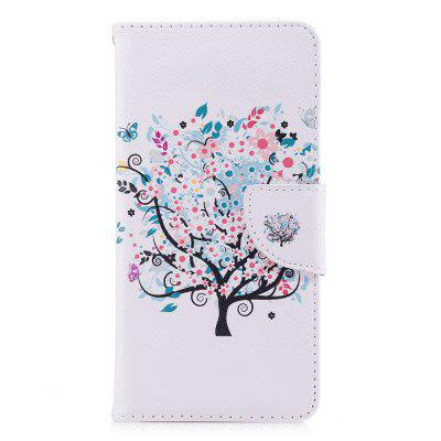 Wallet Case for Xiaomi Redmi 5 White Tree Pattern PU Leather Flip Cover
