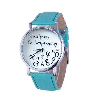 V5 Fashion Women Creative Quartz Montre