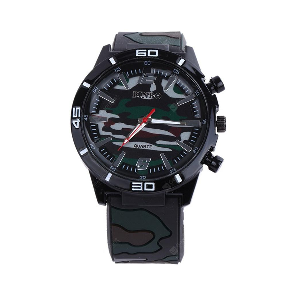 Fashion Camouflage Silicone Watch