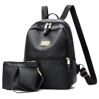 Casual Simple Soft Leather Backpack