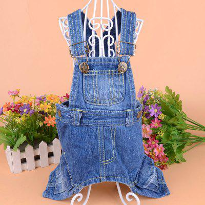Lovoyager LVC1801 Pet Summer New Dog Clothing Cowboy Jumpsuit