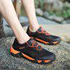HOMASS Men Casual Hiking Wear Water Outdoor Mesh Climbing Breathable Shoes - TANGERINE