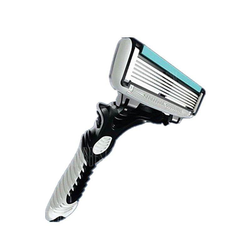 Men's Hair Razor Stainless Steel Safety Manual Shaving Trimmer 6 Layers