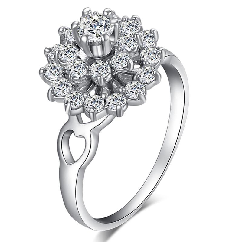 Fashionable and Cool Micro-set Zircon Ring J1641