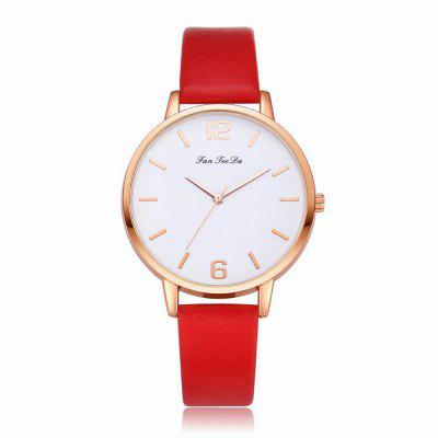 Fanteeda FD137 Women Classic Leather Band Quartz Wrist Watch
