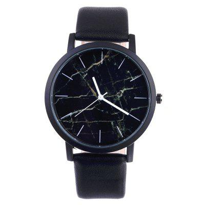 V5 Classic Design Simple Marble Quartz Wrist Watch