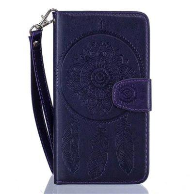 3D Embossed Wind Bell PU Leather Flip Folio Wallet Cover for iPhone 7