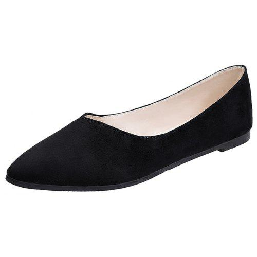 Flat Nose Comfortable Shallow Professional Work Suede Women s Shoes ... 4e6a13b5aba6