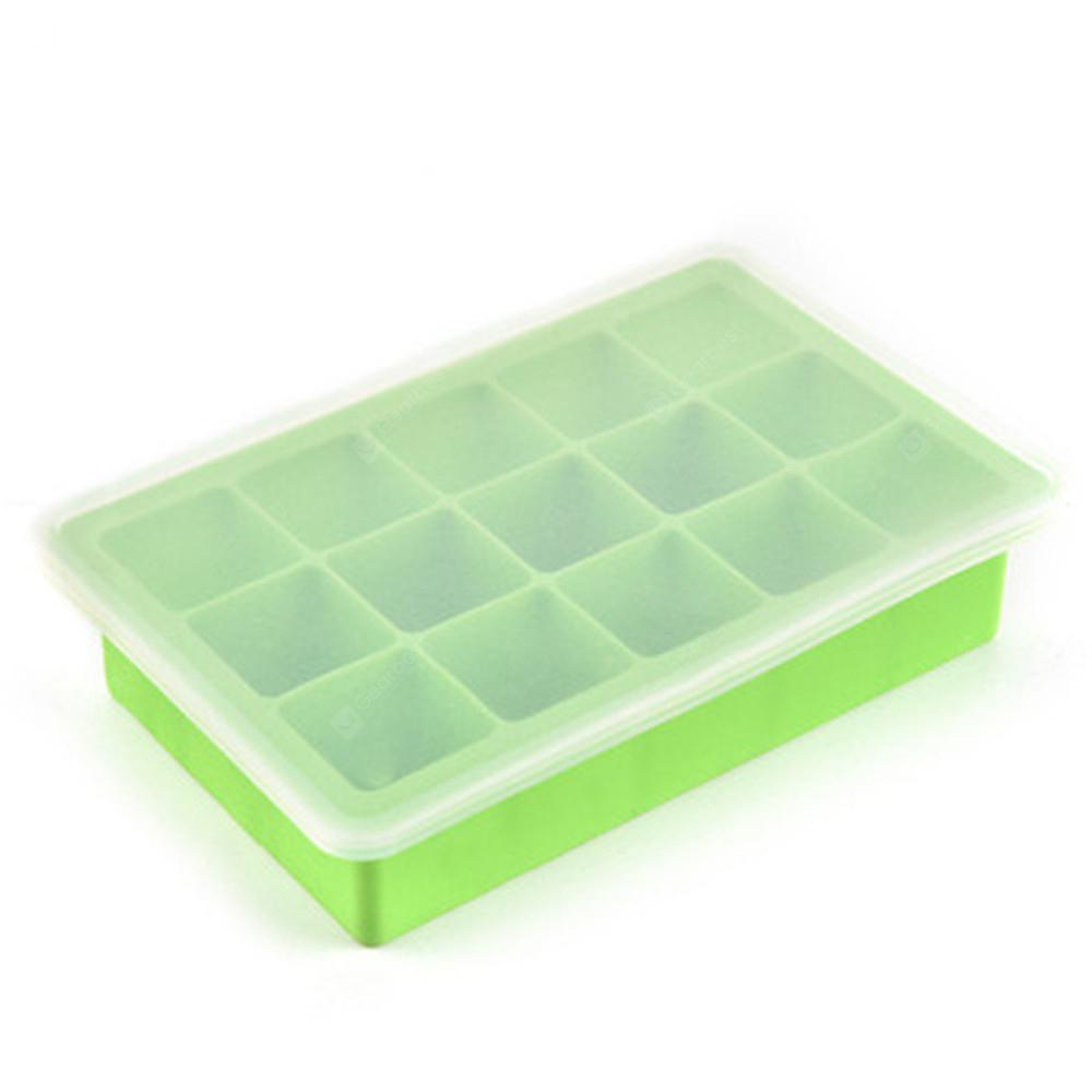 15 Silicone Ice Cube Mold - GREEN