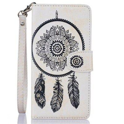 3D Embossed Wind Bell PU Leather Flip Folio Wallet Cover for iPhone 8 Plus