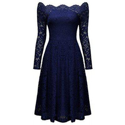 2018 Spring Lace Long-Sleeved Dress