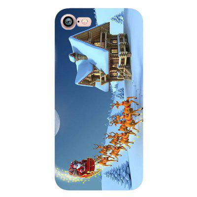 Merry Christmas Snowman Santa Claus Case for Iphone 7 Soft Silicone TPU Cover newsets mercury flash powder tpu protector case for iphone 7 4 7 inch baby blue