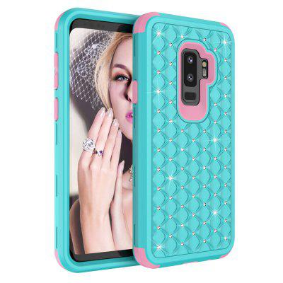 Diamond Case for Samsung Galaxy S9 Plus 3 in 1 PC and Silicone Cover