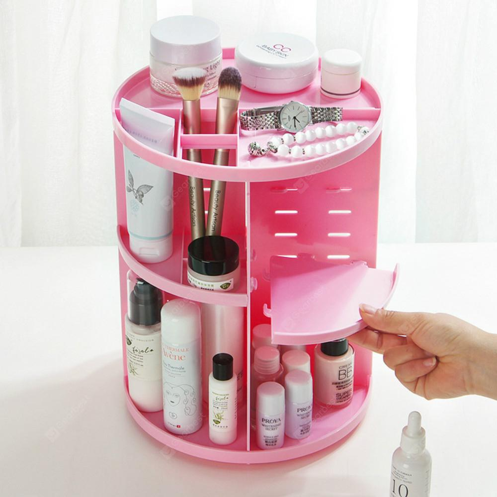 360 Degree Revolving Cosmetic Shelf Skin Care Products Storage Rack