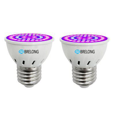 BRELONG E27 E14 GU10 MR16 54LED 2835 Plante Tasse Lumière AC 220-240 V 2 PCS
