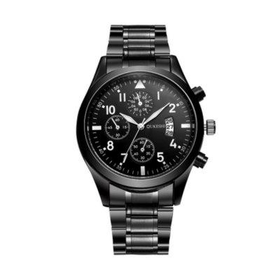 Oukeshi Men Fashion Stainless Steel Band Sports Watch with Calendar