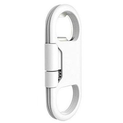 Nuevo Creative Key Ring Bottle Opener Data Cable para iPhone