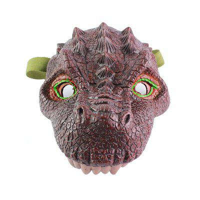Dinosaur Mask Coxeer Latex Animal Scary Halloween Masquerade