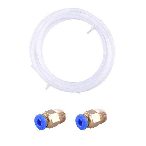 2 Meters PTFE Teflon Tube 1.75mm Fittings for Creality CR-10
